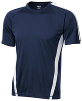 Kamal Ohava Big Tall Men's Dri-Cool Performance Tee Shirt, 3XLT, Navy/White