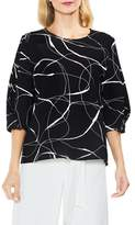 Vince Camuto Ink Swirl Crepe Blouse