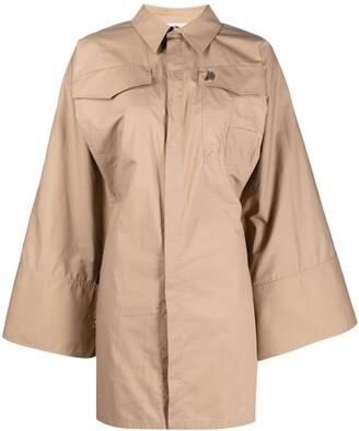 ATTICO Bell-Sleeve Shirt Dress