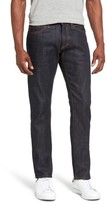 Jean Shop Men's Jim Slim Fit Raw Selvedge Jeans