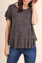 Umgee USA Ruffled Short Sleeve Top