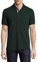 Burberry Short-Sleeve Oxford Polo Shirt, Racing Green
