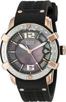 Elini Barokas Women's ELINI-20005D-RG-01-SB Spirit Silicone Watch