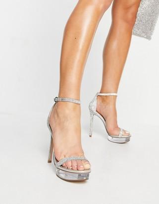 Steve Madden Celebrity platform strappy sandals in rhinestone