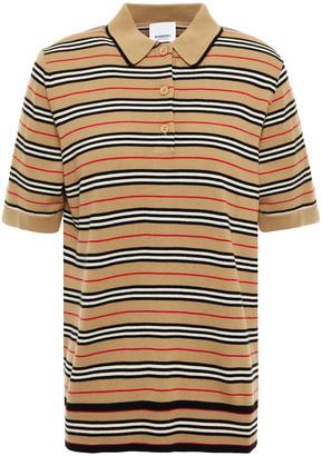 Burberry Striped Merino Wool Polo Shirt