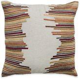 Rizzy Home Retro Stripe Square Throw Pillow in Beige