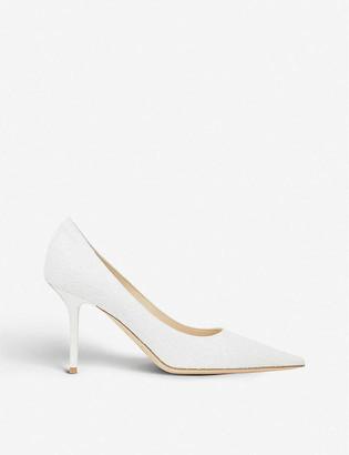Jimmy Choo Love 85 glitter heeled pumps