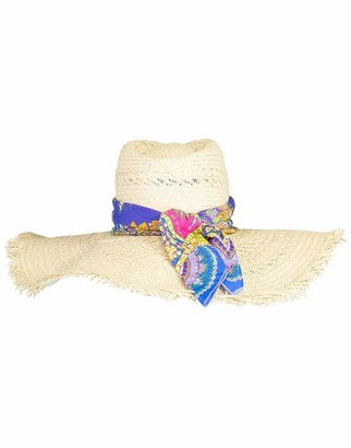 Etro Straw Hat With Bandana