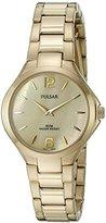 Pulsar Women's 'Dress Sport' Quartz Gold-Toned Dress Watch (Model: PM2222)