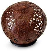 Coconut shell sculpture, 'Eclipse Ogre'