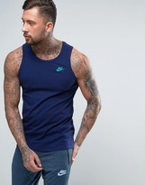 Nike Embroided Logo Vest In Blue 827282-429
