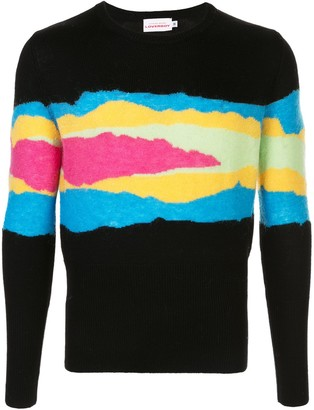 Charles Jeffrey Loverboy Shreddies fine knit jumper