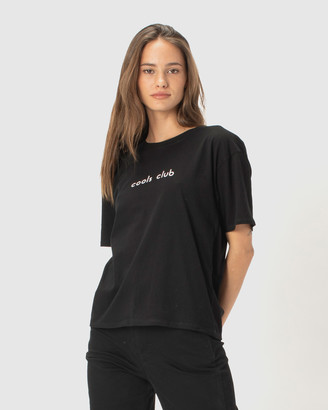 Cools Club - Women's Black Basic T-Shirts - Cools Club Sunday Tee - Size One Size, 6 at The Iconic