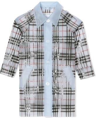 Burberry Kids Check Print Raincoat