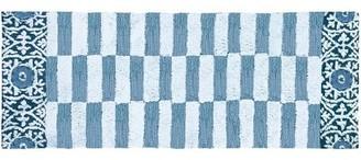 "Blue Area Lennie Subway Tile Rug Wrought Studio Rug Size: Runner 1'9"" x 4'6"""