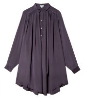 Kenzo Long Sleeve Pleated Dress