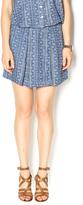 Olive + Oak Olive & Oak Geo-Print Denim Skirt