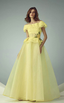 Beside Couture by Gemy Beside Couture - BC1216 Sheer Jewel Lace Ballgown
