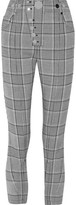 Alexander Wang Studded Checked Woven Leggings - Black