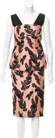 Marc Jacobs Embroidered Floral Dress