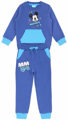 Disney Blue Sweatshirt & Bottoms Tracksuit Set for Boys Mickey Mouse 3 Years