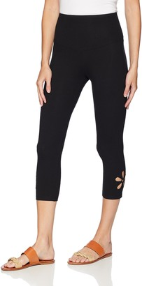 Yummie Women's Signature Waistband Legging With Floral Cutout Sockshosiery