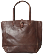 Fat Face Large Leather Buckle Tote Bag
