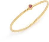 Jennifer Meyer Jewelry 18k Gold Thin Ruby Ring