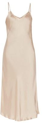 Mes Demoiselles Lolita Satin Slip Dress - Light Pink