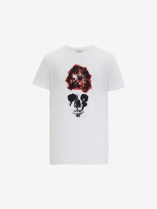 Alexander McQueen Ink Flower Skull T-Shirt
