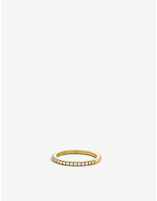 De Beers Women's Classic Half Band Yellow Gold And Diamond Eternity Ring, Size: 48mm