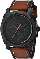 Fossil Men's Quartz Stainless Steel and Leather Automatic Watch, Color:Brown (Model: FS5234)