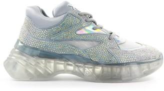 Pinko Rubino Diamond Silver Sneaker