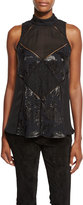Haute Hippie The Once You Kiss A Stranger Sleeveless Silk Top, Black