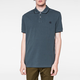 Paul Smith Men's Slate Green PS Logo Organic-Cotton Polo Shirt