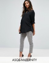 Asos Cigarette Pant in Grid Check