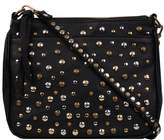 Wilsons Leather Womens Vintage Washed Leather Crossbody W/ Front Studs