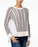 Rachel Roy Mixed-Media Sweater, Only at Macy's