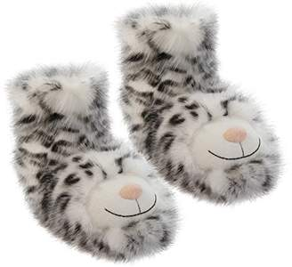 Aroma Home Shoes Women's Fun for Feet Snow Leopard Hi-Top Slippers, Grey (Grey), 40/41 EU