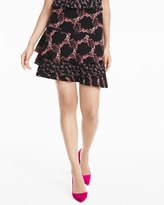 White House Black Market Mixed Floral Print Skirt