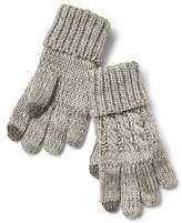 Cable-knit smartphone gloves