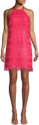 Trina Turk Playtime Lace Fringe Dress