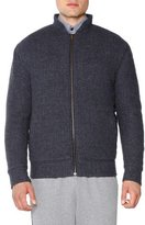 Tomas Maier Textured Cashmere Bomber Jacket, Charcoal
