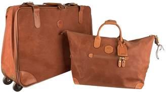 Bric's Brown Cloth Travel bags