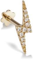 Maria Tash 11mm Diamond Lightning Bolt Thread Through Single Earring - Yellow Gold