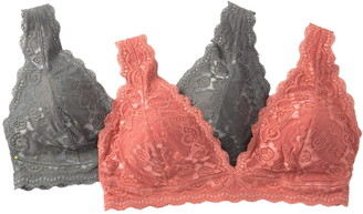 Jessica Simpson Lace Bralette (Plus Size) - Pack of 2