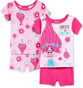 Trolls by DreamWorks 4-Pc. Yay Poppy Cotton Pajama Set, Toddler Girls (2T-5T)