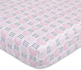 Petunia Pickle Bottom Dreaming in Dax Jersey Fitted Crib Sheet in Pink/Grey