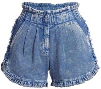 Sea Idun Denim Ruffle Shorts