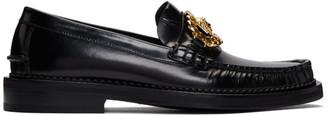 Versace Black Medusa Moccasin Loafers